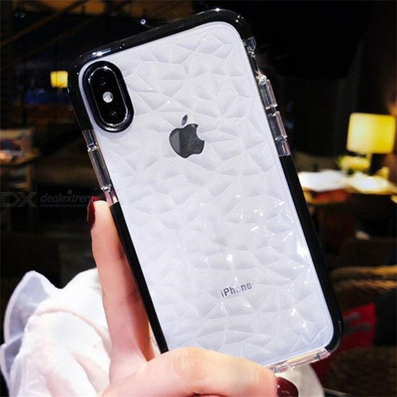 Ultra Thin Transparent Case For IPhone 6 7 8 Plus Diamond Waterback Back Cover For IPhone X Full Protective Soft TPU Cas