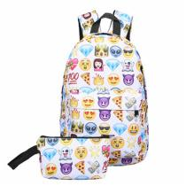 School-Bags-For-Teenagers-Girls-Fashion-Emoji-Expression-Backpack-Two-piece-Student-Backpack-Leisure-Bag-College-BookBag