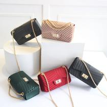 New-Handbags-Women-Frosted-Jelly-Shoulder-Bag-Fashion-Small-Bag-V-chain-Messenger-Bag-Tide-Candy-Color-Female-Clutch