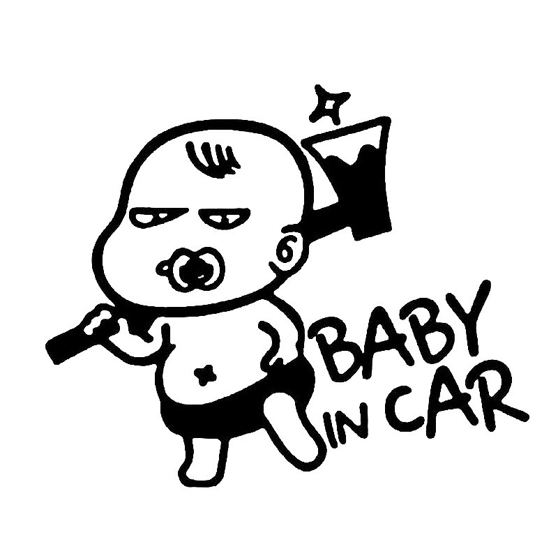 Creative Cartoon Car Stickers Baby On Board Car Stickers 15.212.7cm Car Accessories Baby In Car Reflective Stickers On
