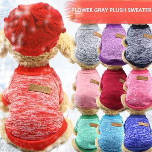 Dog Clothes For Small Dogs Soft Pet Dog Sweater Clothing For Dog Winter Chihuahua Clothes Classic Pet Outfit