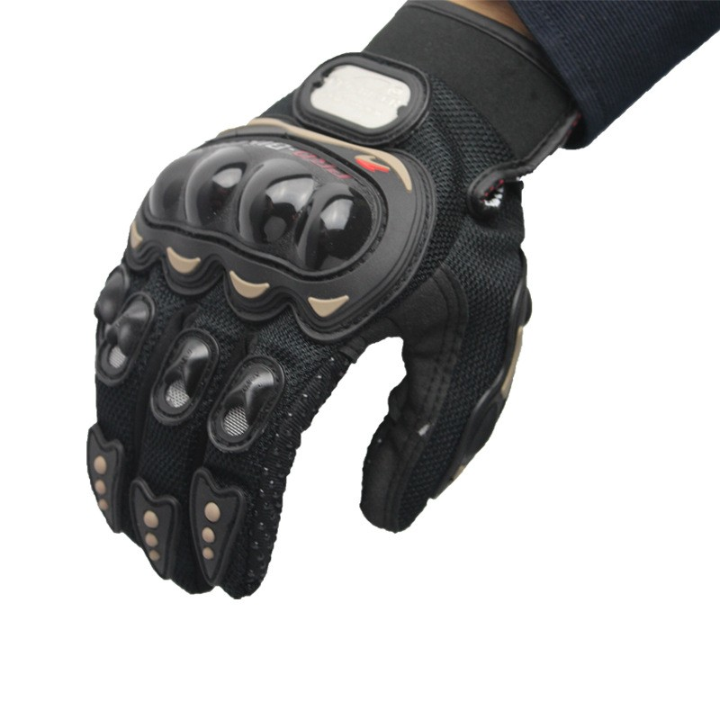 Fashion Three Color Driving Bicycle Cycling Motorcycle Gloves Racing Gloves Full Finger Off-road Riding Gloves