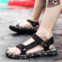 Mens-Summer-Slippers-Comfy-Ankle-Strap-Sandals-Canvas-Upper-Casual-Water-Shoes