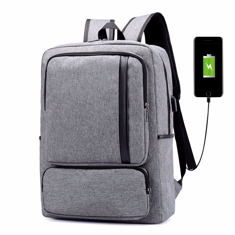 Nylon Casual Mens Backpack School Student Notebook Bag For Teenage Boys USB  Charging Backpack Computer Travel Backpack