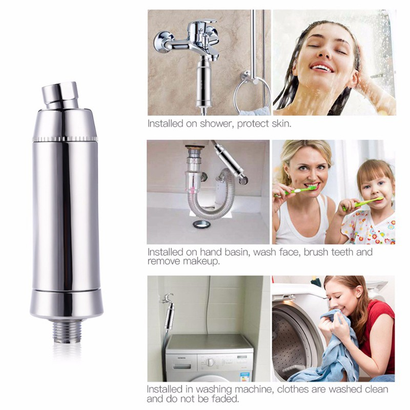 Home Water Purifier Chlorine Shower Filter Activated Carbon Faucets Eliminates  Water Purifier Multi-function Bath Water