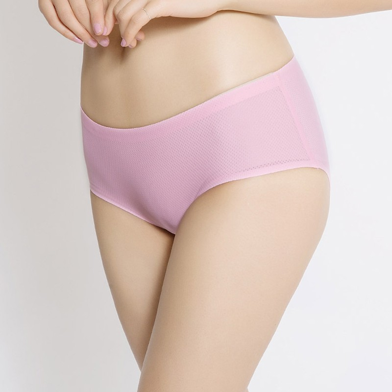 Breathable | One-Piece | Underwear | Small | Women | Rise | Silk | Ice | Low
