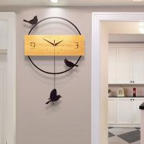 Nordic Bird Wall Decoration Home Decoration Wall Clock Wall Decoration Hanging Wall Fashion Simple Living Room Clock