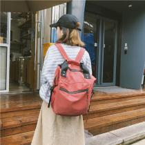 Casual-Nylon-Waterproof-Backpack-Women-High-Capacity-Travel-Book-Bags-Girls-Students-Solid-Color-Satchel-Backpack