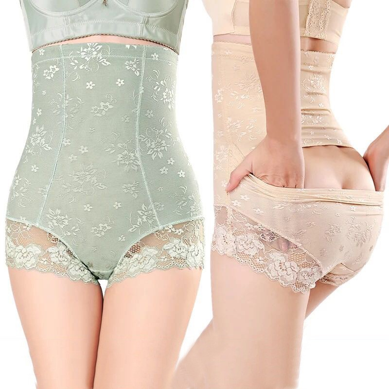 Womens High Waist Lace Briefs Abdomen Tights Body Shaping Body Sexy Breathable Cotton Abdomen Body Shaping Hip Pants