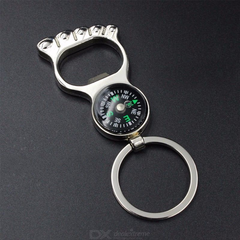 Personality Keychain Car Keys Creative Unique Gifts Compass Opener Metal Keychain Car Can Lettering
