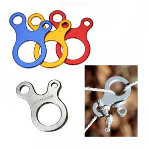 Multifunctional Stainless Steel Carabiner 3-Hole Rope Buckle Rapid Knot Tying Tool For Outdoor Camping