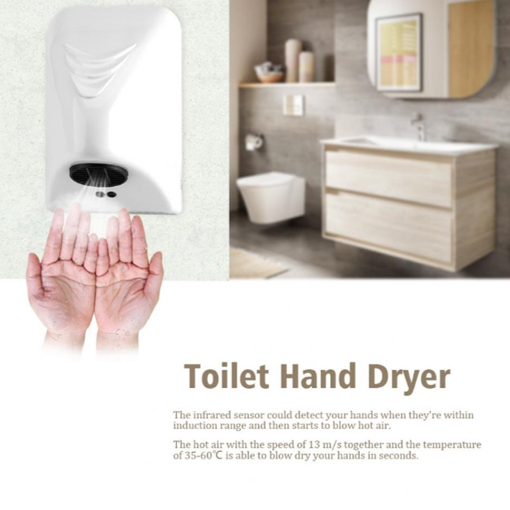 1000W Household Hotel Commercial Hand Dryer, Electric Automatic Induction Hands Drying Device