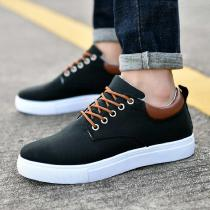 Mens-Casual-Canvas-Sneakers-Lace-Up-Fashion-Flat-Walking-Shoes