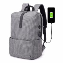 New-Fashion-College-Student-School-Bag-16-Inch-Mens-Waterproof-Backpack-Smart-USB-Charging-Solid-Color-Backpack