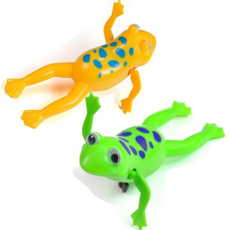 Baby Kids Bath Toy Clockwork Wind Up Plastic Swimming Pool Frog Bathe Bath Pool For Baby Children 2017