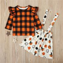 Long-Sleeve-Plaid-Tops-And-Pumpkin-Print-Strap-Skirt-Two-Piece-Set-Halloween-Costume-For-2-8Y-Toddler-Baby-Kids-Girls