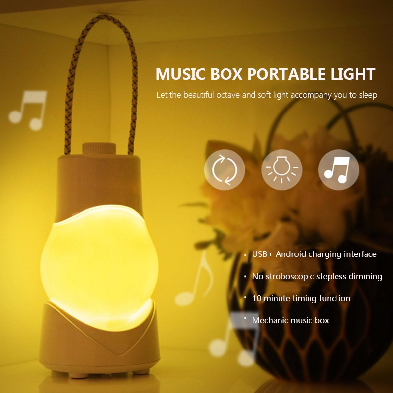 Rechargeable   Portable   Bedroom   Lantern   Light   Tent   Camp   Hang   Lamp   USB   LED