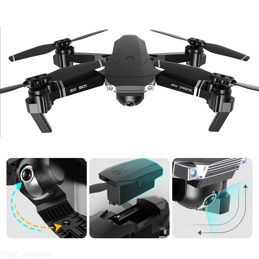 SG901 Professional Folding 4K HD Remote Control RC Airplane Drone Quadcopter Set With Dual Cameras