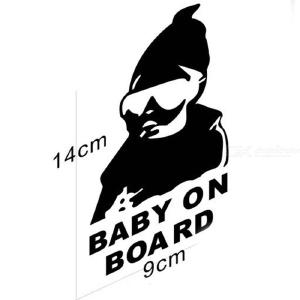 Car Accessories Car Body Reflective Car Sticker Baby On Board Warning Car Stickers Cover Scratch
