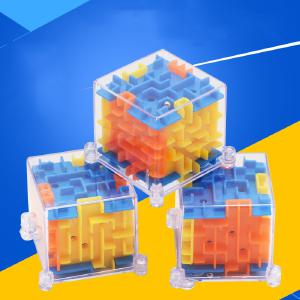3D Mini Maze Magic Cube Puzzle Speed Cube Labyrinth Rolling Ball Toys Puzzle Game Cubos Magicos Learning Toys For Childr