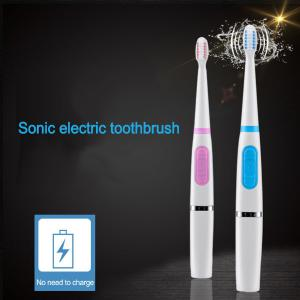 Dry Battery Powered Electric Sonic Toothbrush, Portable Waterproof Teeth Whitening Toothbrush For Children Adults