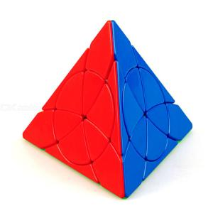 YJ YongJun Petal Pyramid Leaf Shaped Stickerless Pyraminx Magic Cube Speed Puzzle Classic Toy, 9881.5mm