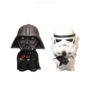 Car Ornament Cute Star Wars Action Figure Doll Automobiles Interior Black Darth Vader White Stormtroopers Model