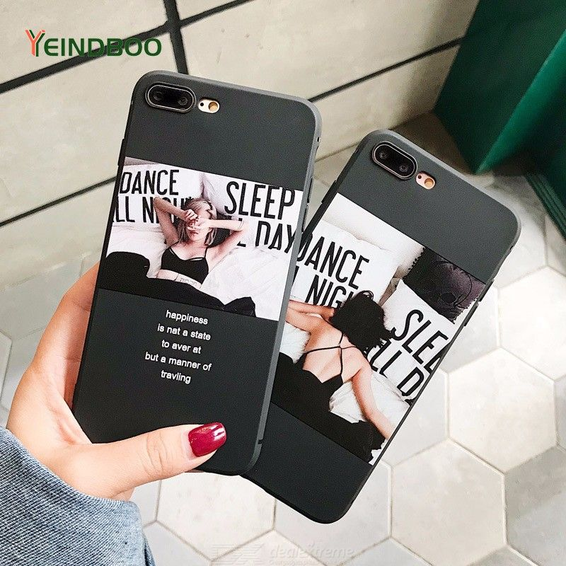 Ins Wind Girl Shape Mobile Phone Case For IPhone 6s Case All-inclusive TPU Soft Shell Drop Protection For IPhone 6 6s 7