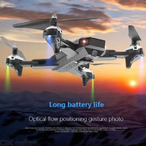 Long Battery Life Drone Folding Gesture Camera Remote Control Aircraft Dual Camera Optical Flow Following Four-axis Aircraft Aer