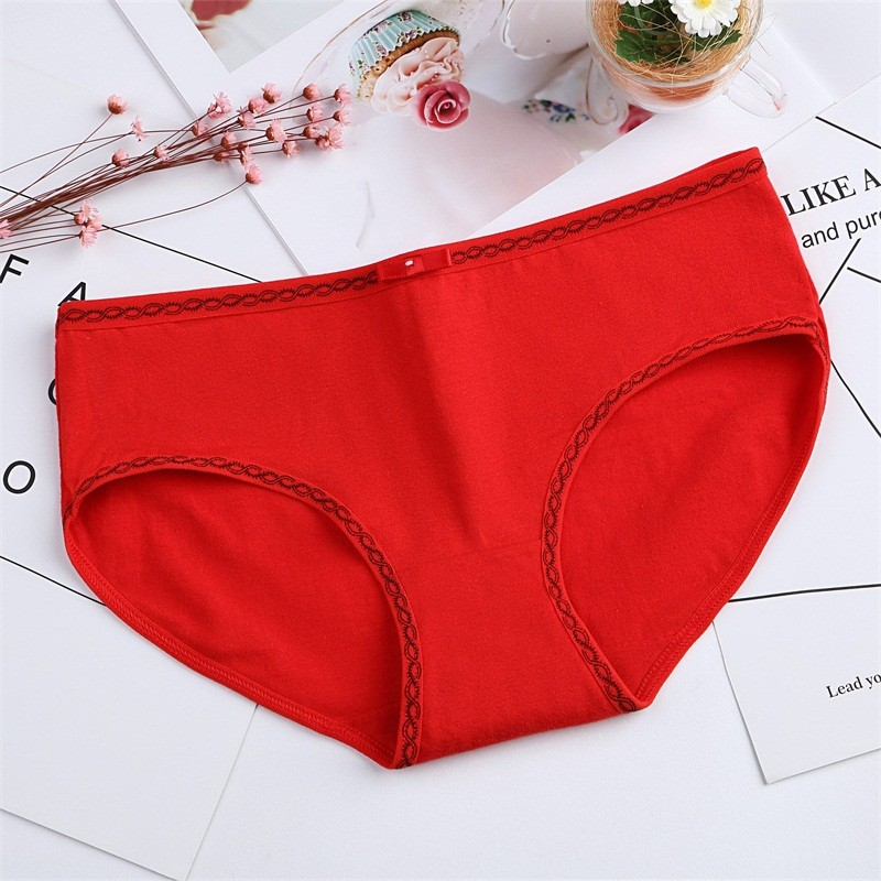Gumrpun New Small Fresh Candy Color Bow Cute Low Waist Panties For Women Cotton WomenS Underwear Comfortable Lingerie
