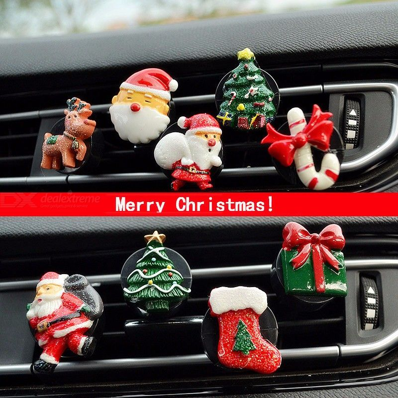 Car Air Freshener Smell In The Car Outlet Clip Auto Parfum Christmas Ornaments Auto Parfum Light Fragrance