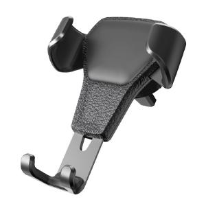 New Air Outlet Car Phone Holder Car Leather Grain Gravity Mobile Phone Bracket