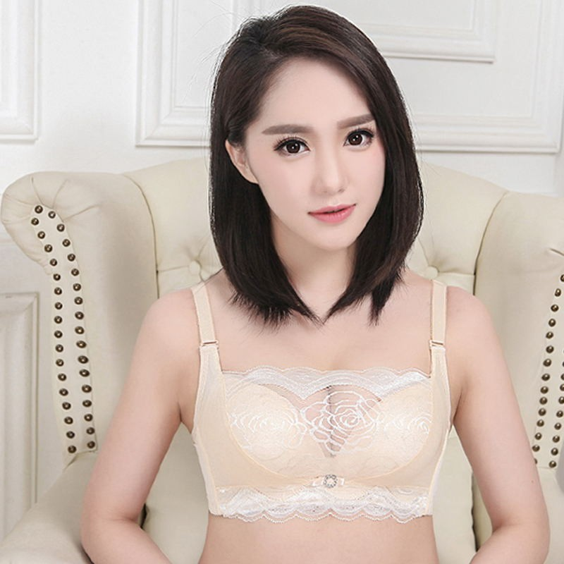 New Summer Sexy Bra Thick Wire Free Adjusted Push Up Bra Lace Splice Solid Tube Bras For Women Sexy Lingerie Underwear