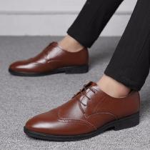 Mens-Prince-Classic-Modern-Oxford-Leather-Shoes-Lace-Up-Formal-Dress-Shoes