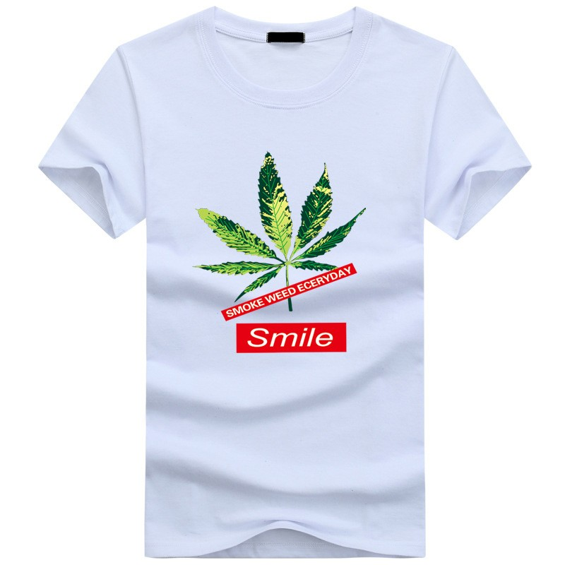 New High Quality Men Casual T-Shirt Personalized Printing Coconut Tree Design O-Neck Fashion Men Clothes Harajuku Tops