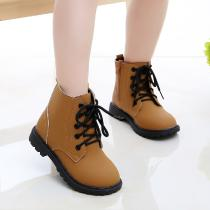 Winter-Fashion-Girls-Shoes-Waterproof-Martin-Boots-Casual-Cross-tied-Boys-Shoes-Warm-Children-Snow-Boots-Kids-Shoes