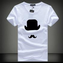 Design Personality Mustache Tees Shirt Short Sleeve T Shirt Blouse Fitness O-Neck Fashion Causal T Shirts Summer Tops