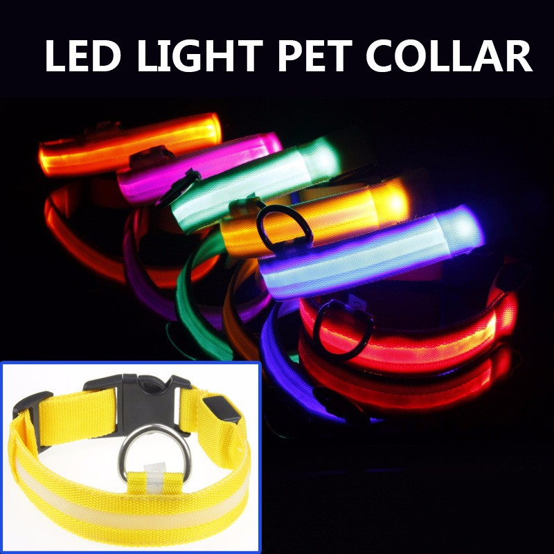 Pet Dog LED Collar For Cat Nylon Night Safety Anti-lost Light Up Flashing USB Collars Dog Luminous Necklace Pet Supplies