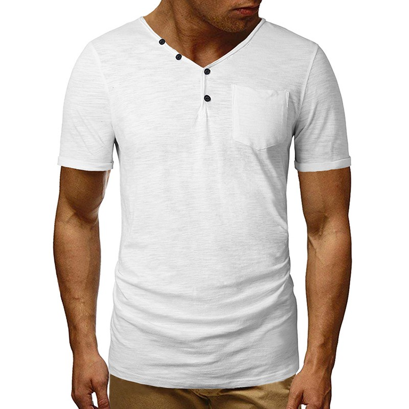 Men Summer T-Shirt  2019 Brand New Mens Cotton T Shirt Solid Colors T-Shirt Top Fashion T Shirt Mens Tee  Hipster More