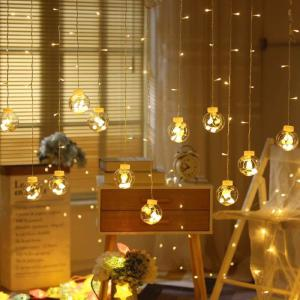 LED Copper Wire Star Curtain String Lights Lamp Fairy Lighting For Outdoor Wedding Christmas Decoration 220v EU Plug