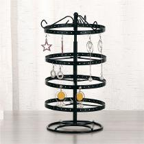4-Tiers-Rotating-Earring-Holder-92-Pairs-Spin-Table-Top-Organizer-Stand-Jewelry-Stand-Display-Rack-Towers-BlackWhite