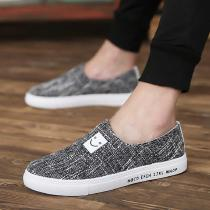 Mens-Casual-Canvas-Sneakers-Slip-On-Fashion-Flat-Runnig-Shoes