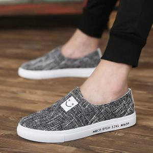 Mens Casual Canvas Sneakers Slip On Fashion Flat Runnig Shoes