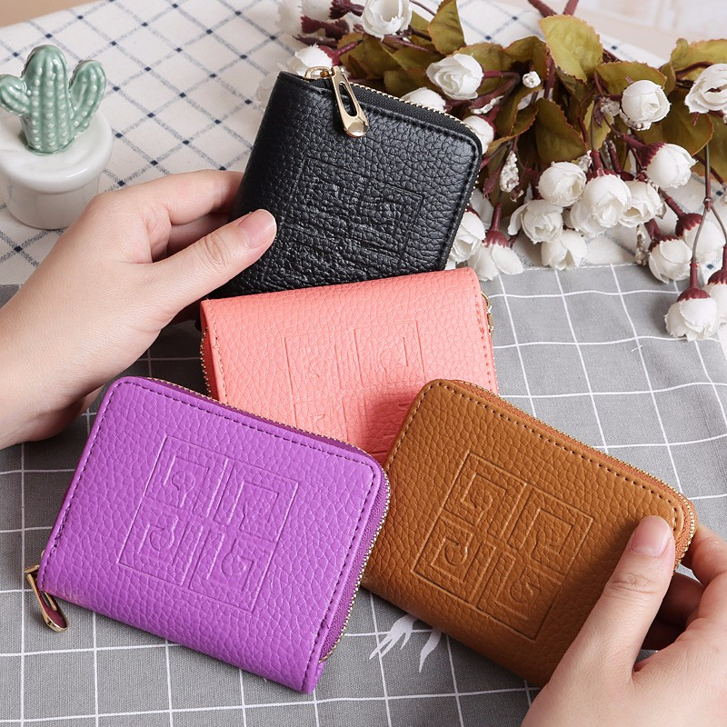 Women Fashion Small Wallet Zipper Multi-function Leather Zip Mini Wallet For Ladies Coin Purse Card Holder Portefeuille