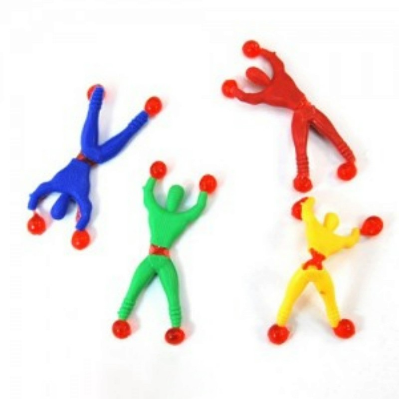 1 Pcs Novelty Sticky Vane Spider Climbing Wall Climber Kids Toys Classic Random Color Childrens Gift Toys