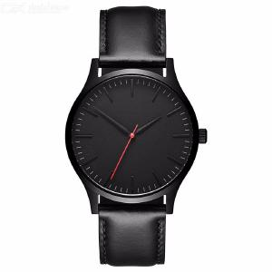 Fashion Mens Black Dial Leather Watch New Simple Mens Business Vintage Quartz Watch Mens Sports Watch Student Watch