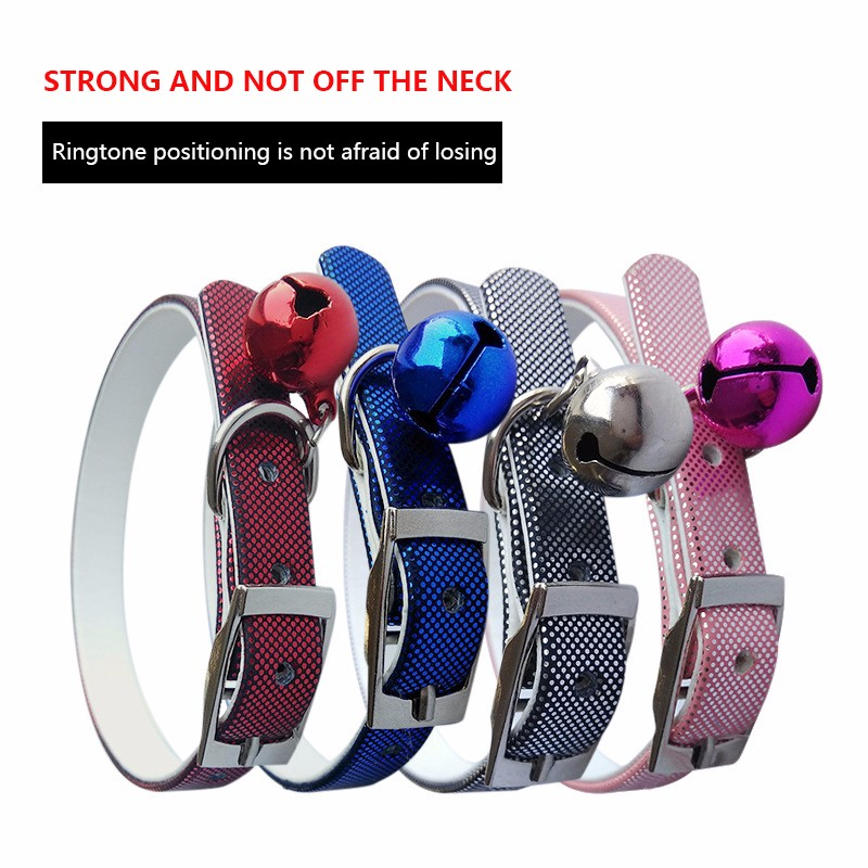 Cat Bell Ollar With Dog Collar For Cats Solid Braid Kittens Pet Cat Collars Shiny Adjustable Collar For Cat Pet Supplies