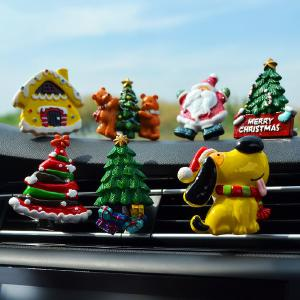 Christmas Style Car Perfume Clip Air Conditioning Outlet Car Scent Clip Decorations Best Christmas Gifts
