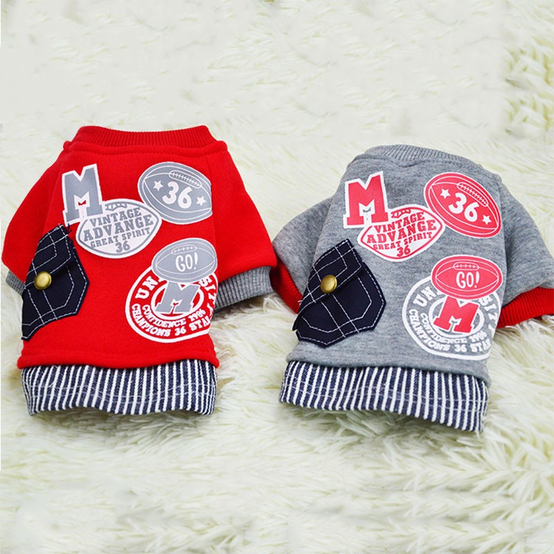 Cute Dog Clothes Jumpsuit Warm Winter Puppy Cat Coat Costume Pet Clothing Outfit For Small Medium Dogs Cats Pug Clothing
