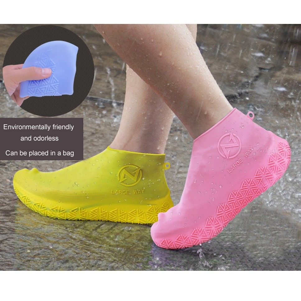 Waterproof Shoes Cover Reusable Non-slip Anti-wear Silicone Shoes Cover For Adults Kids
